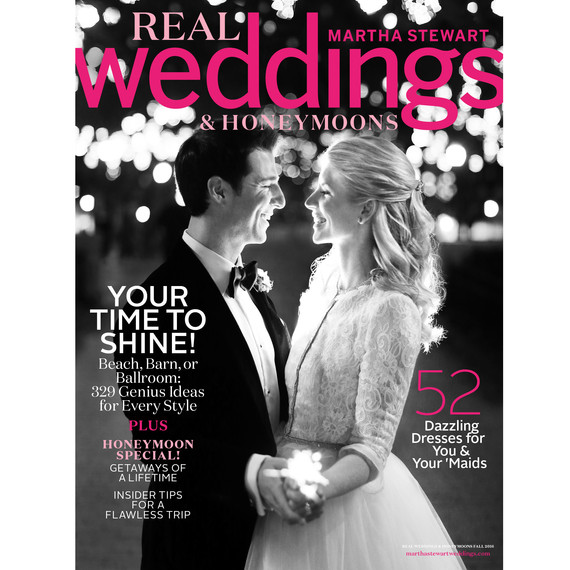 Martha Stewart Weddings Magazine SarahGregs Charmingly Bespoke